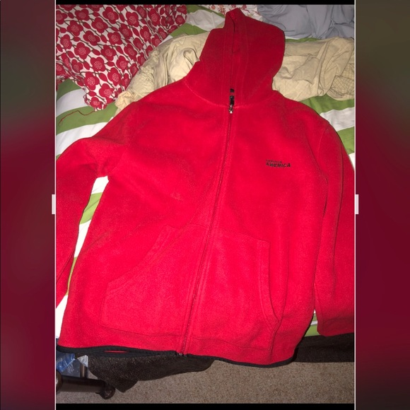 Men's large Perry Ellis America fleece jacket